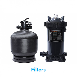 Sand filters & Cartridge filters are very important as they keep your pool clean by eliminating dust, dirt, chemical residue and oils that may enter your pool. We offer a large range of filters to suit all pool requirements.