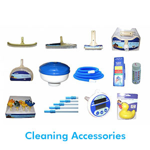 Top quality pool accessories such as leaf scoops, brooms, telescopic poles and much more are carried in our mobile pool shop. You can help keep your pool maintained and sparkling clear all year round by using the correct cleaning accessories.